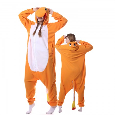 Charmander Costume Onesie Pajamas Adult Animal Costumes for Women & Men