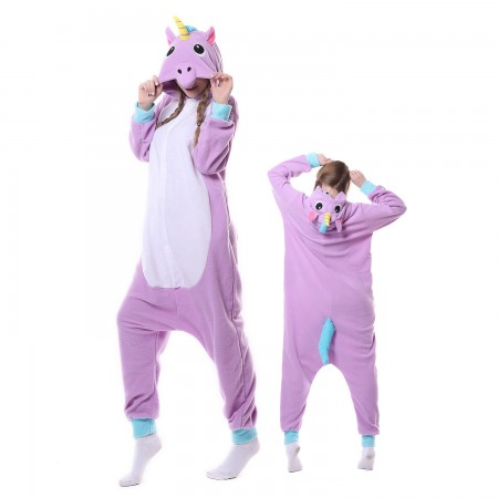 New Purple Unicorn Costume Onesie Pajamas Adult Animal Costumes for Women & Men