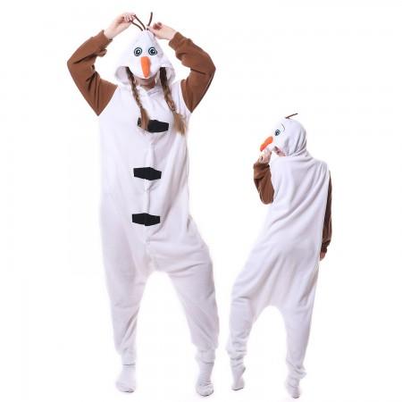 Olaf Costume Onesie Pajamas Adult Animal Costumes for Women & Men