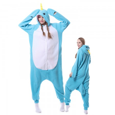 Narwhal Costume Onesie Pajamas Adult Animal Costumes for Women & Men