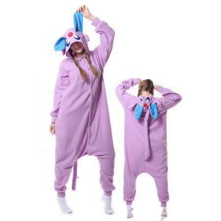 Purple Monster Costume Onesie Pajamas Adult Animal Costumes for Women & Men