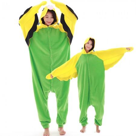 Yellow Macaw Parrot Costume Onesie Pajamas Adult Animal Costumes for Women & Men