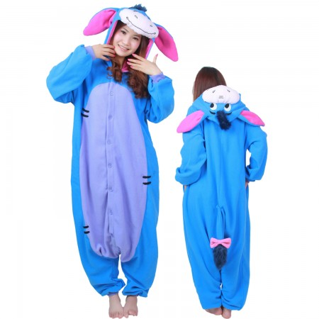 Winnie The Pooh Eeyore Costume Onesie Pajamas Adult Animal Costumes for Women & Men