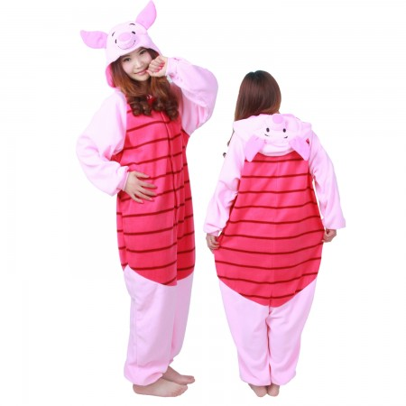 Winnie The Pooh Piglet Costume Onesie Pajamas Adult Animal Costumes for Women & Men