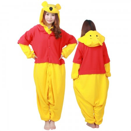 Winnie The Pooh Costume Onesie Pajamas Adult Animal Costumes for Women & Men