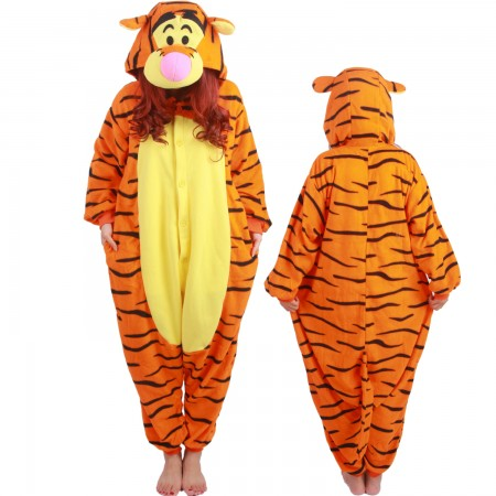 Winnie The Pooh Tigger Costume Onesie Pajamas Adult Animal Costumes for Women & Men