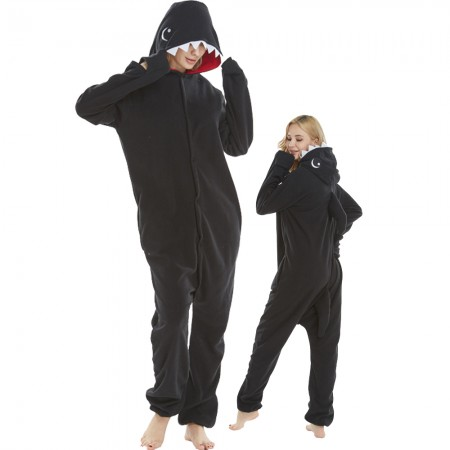 Black Shark Costume Onesie Pajamas Adult Animal Costumes for Women & Men