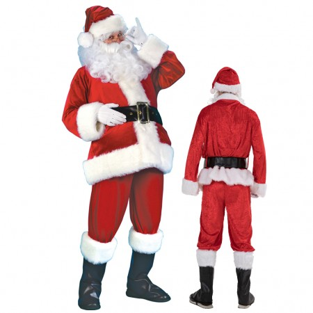 Santa Claus Costume Pajamas Adult Animal Costumes for Women & Men