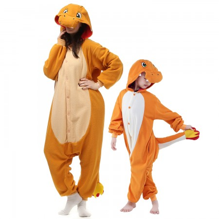 Kids & Adults Charmander Onesie Costumes