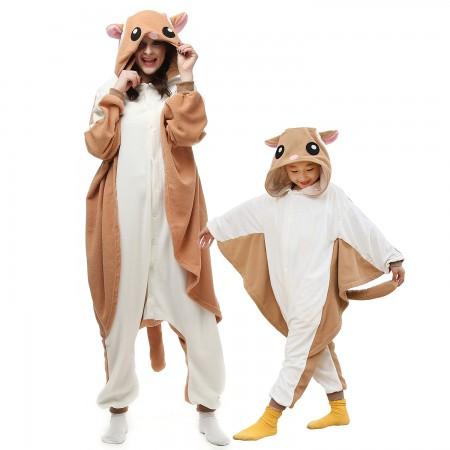 Kids & Adults Flying Squirrel Onesie Costumes
