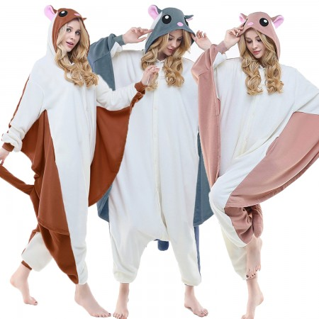 Adult Flying Squirrel Onesie Costumes for Women & Men