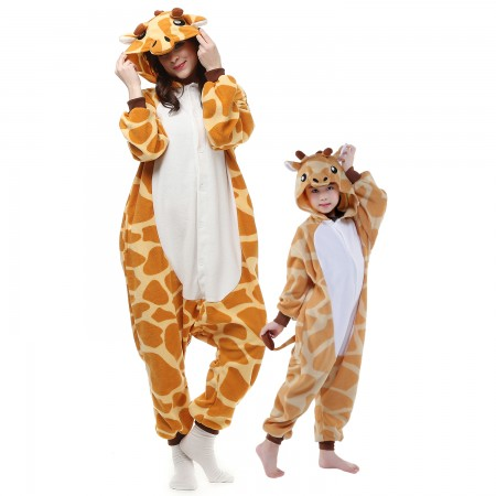 Kids & Adults Giraffe Onesie Costumes