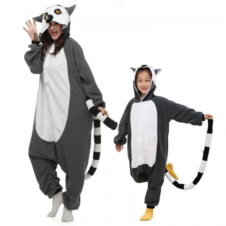 Lemur Onesie Costumes for Kids & Adults