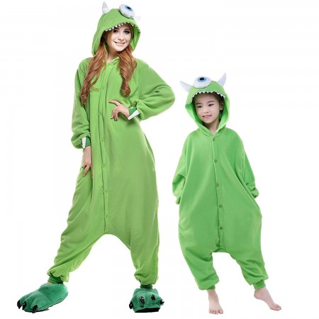 Michael Wazowski Onesie Costumes for Kids & Adults