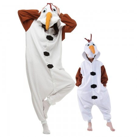 Olaf Snowman Onesie Costumes for Kids & Adults