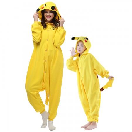 Adults & Kids Pikachu Onesie Costumes Animal Onesies
