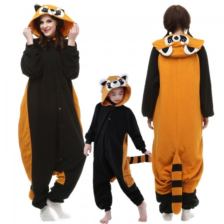Adults & Kids Raccoon Onesie Costume Halloween Animal Onesies