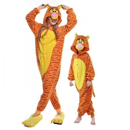 Adults & Kids Tigger Onesie Costume Halloween Animal Onesies