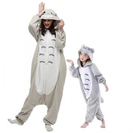 Adults & Kids Totoro Onesie Costume Halloween Animal Onesies