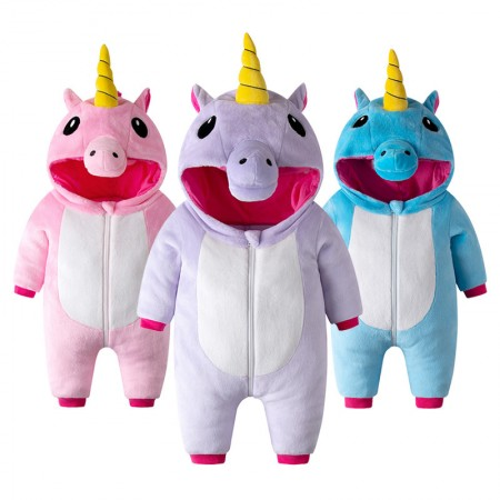 Unicorn Onesie Pajama Toddler Animal Costume for Baby Infant