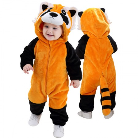Red Panda Raccoon Onesie Pajama Toddler Animal Costume for Baby Infant