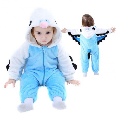 Blue Macaw Parrot Onesie Pajama Toddler Animal Costume for Baby Infant