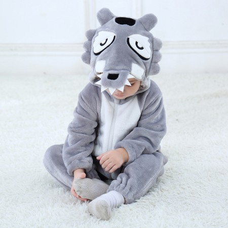 Wolf Onesie Pajama Toddler Animal Costume for Baby Infant