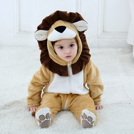 Lion Onesie Pajama Toddler Animal Costume for Baby Infant