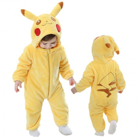 Pokemon Pikachu Onesie Pajama Toddler Animal Costume for Baby Infant