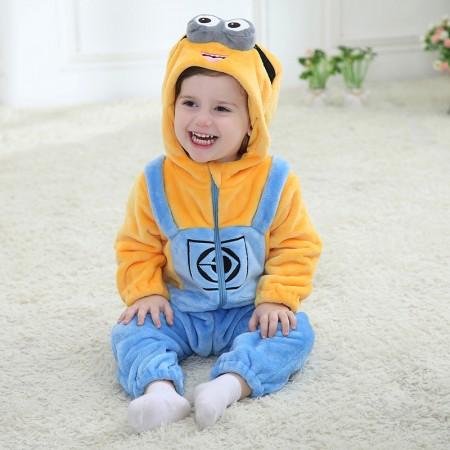 Baby Minions Onesie Pajama Animal Onesies Costume for Toddler Infant