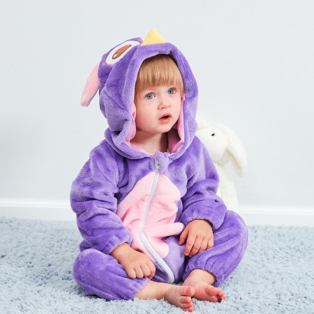 Baby Purple Owl Onesie Pajama Animal Onesies Costume for Toddler Infant