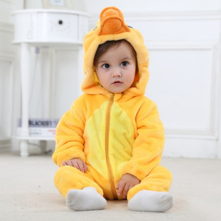 Baby Yellow Duck Onesie Pajama Animal Onesies Costume for Toddler Infant