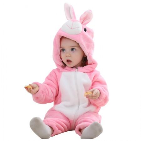 Baby Pink Rabbit Onesie Pajama Animal Onesies Costume for Toddler Infant