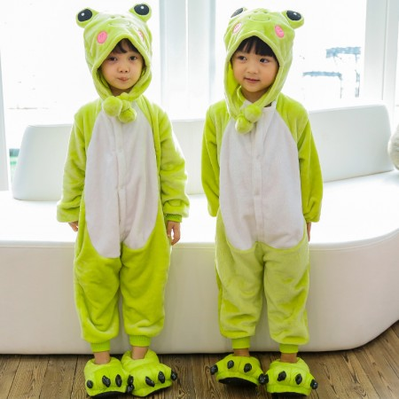 Kids Frog Onesie Costume Pajama for Boys & Girls With Hood