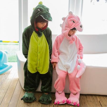 Kids Dinosaur Onesie Costume Pajama for Boys & Girls With Hood