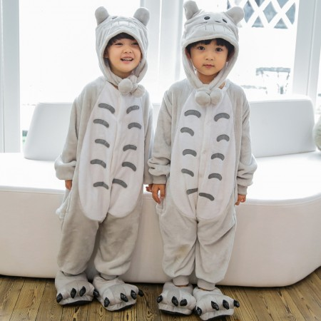 Kids Totoro Onesie Costume Pajama for Boys & Girls With Hood