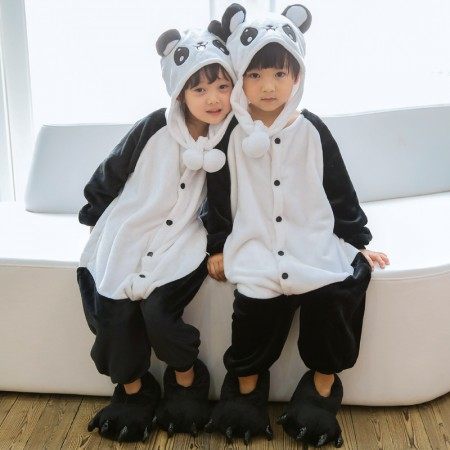 Kids Panda Onesie Costume Pajama for Boys & Girls With Hood