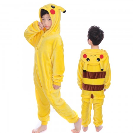 Pokemon Pikachu Onesie Costume Pajama Kids Animal Outfit for Boys & Girls