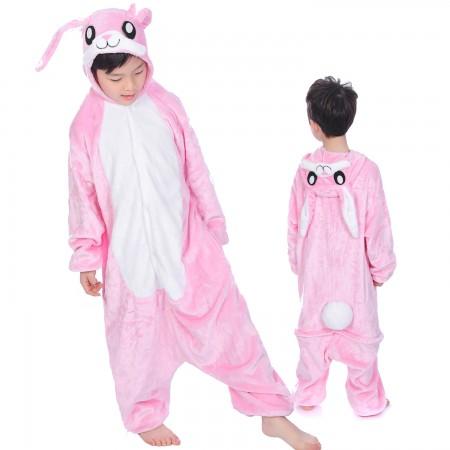 Pink Rabbit Onesie Costume Pajama Kids Animal Outfit for Boys & Girls