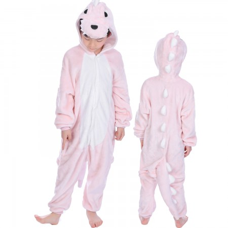 Pink Dinosaur Onesie Costume Pajama Kids Animal Outfit for Boys & Girls