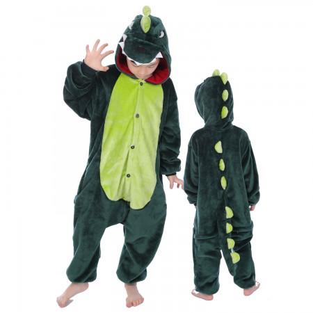 Green Dinosaur Onesie Costume Pajama Kids Animal Outfit for Boys & Girls