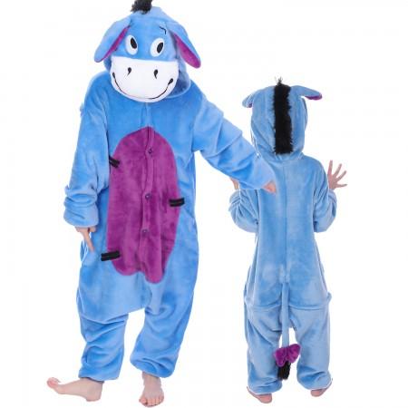 Kids Winnie The Pooh Eeyore Onesie Costume Pajama Animal Outfit for Boys & Girls