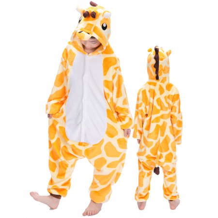 Giraffe Onesie Costume Pajama Kids Animal Outfit for Boys & Girls