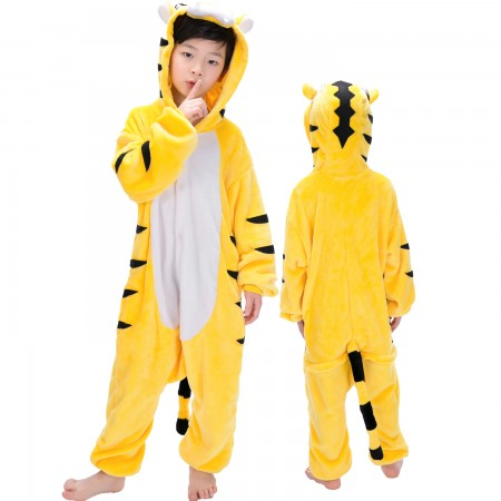 Tiger Onesie Costume Pajama Kids Animal Outfit for Boys & Girls