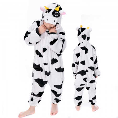 Kids Cow Onesie Costume Pajama Animal Outfit for Boys & Girls