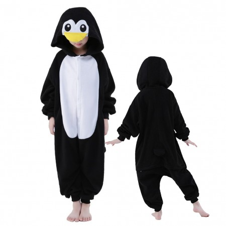 Penguin Onesie Costume Pajama Kids Animal Outfit for Boys & Girls