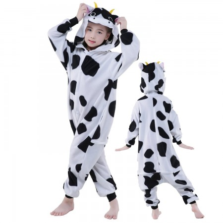 Kids Cow Costume Onesie Pajama Animal Outfit for Boys & Girls