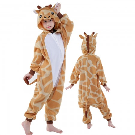 Kids Giraffe Costume Onesie Pajama Animal Outfit for Boys & Girls