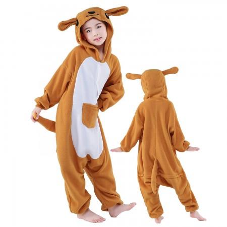 Kids Kangaroo Costume Onesie Pajama Animal Outfit for Boys & Girls