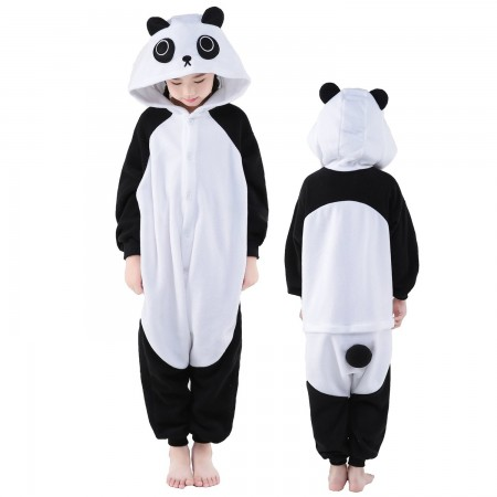 Kids Panda Costume Onesie Pajama Animal Outfit for Boys & Girls